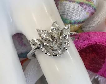 14k Marquise Diamond 1.87ct size 6.25