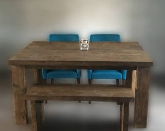 SALE NOW ON 6 x 3 ft Reclaimed Timber Dining Table with or without bench seating