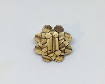 Zebra Wood Lapel Pin - Wood Lapel Pin - Mens Lapel Flower- wooden lapel - lapel