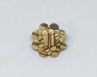 Zebra Wood Lapel Pin - Wood Lapel Pin - Mens Lapel Flower- wooden lapel - lapel