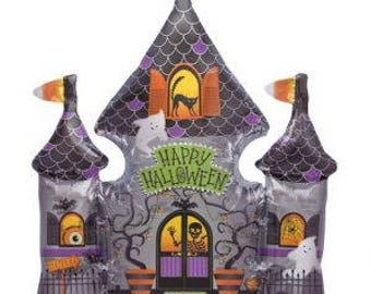"SALE ! SALE! SALE! 33"" Haunted House, , Halloween Party Balloons Decorations, Halloween Balloon, Halloween Party"