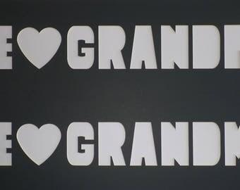 Pre-cut 2 Pack Single Photo Mat Set Your Choice We Heart Grandma Grandpa Nana Or Papa