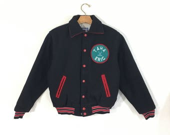 80's vintage varsity jacket with ptaches made in usa size kids 16