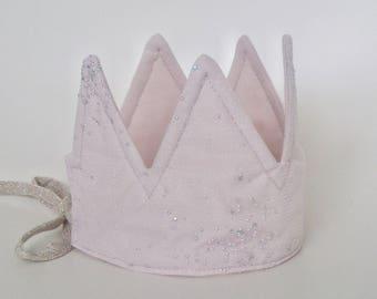 Wonderforest powderpink sparkly crown