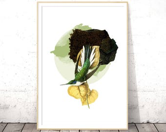Bird Print, Nature Art Print, Digital Download Print, Wall Art Printable, Flora and Fauna, Poster Download, Nature Wall Art INSTANT DOWNLOAD