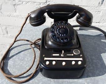 Switchboard rotary black bakelite telephone vintage 50s