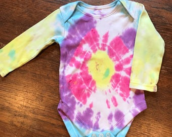 Unique Tie Dye Baby Bodysuit
