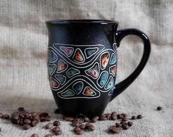 Valentines mug, Large ceramic coffee mug, Hand painted tea cup, Tall coffee mug, Large tea mug, New mom mug, Sister in law mug, Office mug