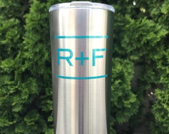 Rodan and Fields cup Yeti -like tumbler - RF 20oz drink cup - Teal - Blue - stainless steel - Vinly decal Ready to Ship R+F Gift!