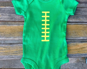 Football laces bodysuit onesie - Greenbay Packers