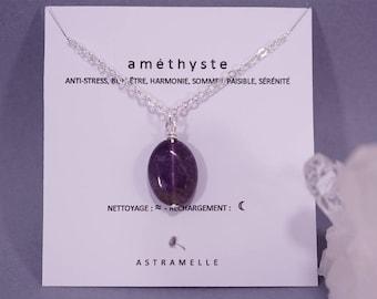 Amethyst star necklace