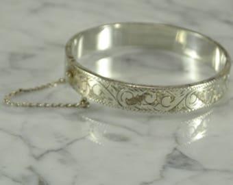 Sterling Silver Siam Bangle Bracelet