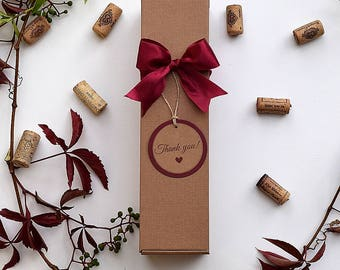 Cardboard wine boxes for 1 , thanksgiving wine  box, chocolate boxes, thanksgiving gift boxes, craft box, bridesmaid gift boxes
