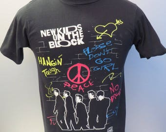 Vintage New Kids on the Block Shirt - By Backstage Pass - Youth Medium