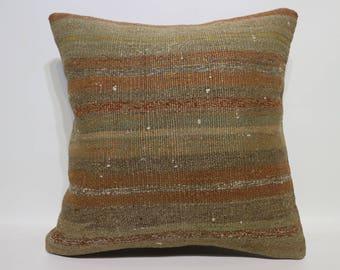 Faded Pillow Striped Pillow 20x20 Floor Pillow Home Decor Antique Pillow Large Size Kilim Pillow Boho Pillow Cushion CoverSP5050-2423