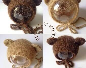 Teddy Bonnet - Newborn Bonnet