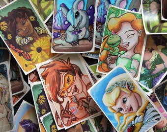 Single Rectangular Vinyl Stickers // fairy art // flower fairies