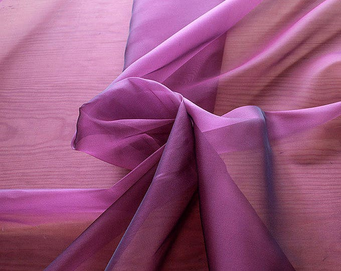 232220-Organdy natural Silk Cangiante 100%, litmus, width 135/140 cm, made in Italy, dry cleaning, weight 55 gr