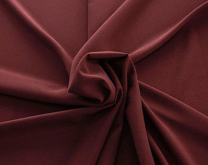 905114-Crepe 100% Polyester, width 150 cm, made in Italy, dry washing, weight 306 gr