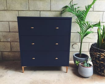 SOLD    Midnight blue chest of drawers