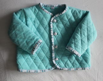 Quilted jersey T 6-12 months Cardigan