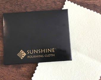 Sunshine Polishing Cloth, Large Size 7.5x5 inches, Polishing Cloth, Jewelry Cleaning Cloth