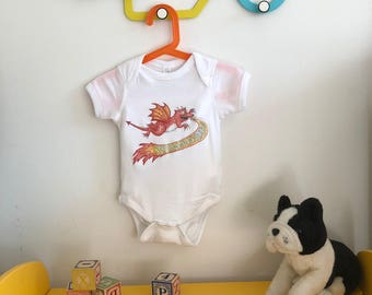 Kids Dragon Onesie!   Adorable baby onesie size 0 - 18m
