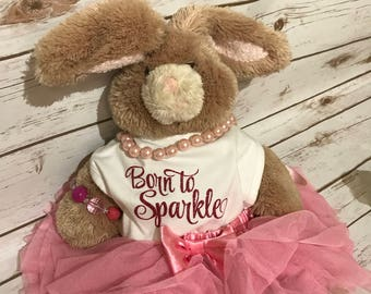Born To Sparkle Bib/Glitter/ Great Gift Every Little Girl Needs/ Baby Shower Gift