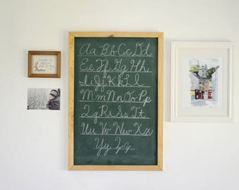 Framed Chalkboard - Shabby Chic Chalkboard - Farmhouse Decor - Free Shipping