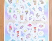 NEW rainbow pastel ice cream galaxy sticker sheet featuring pixel art by bitmapdreams