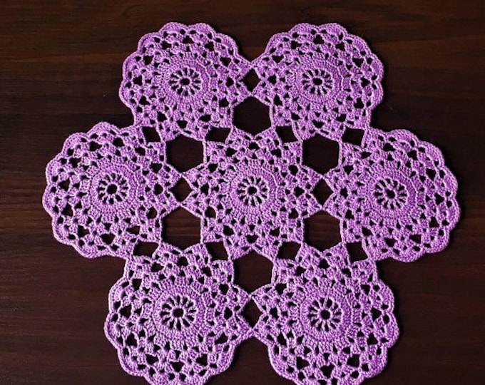Crochet coaster Table runner lace Lace doilies Crochet doilies Coffee Table Doily Crochet gift napkin coconut diameter 11.41 inch.