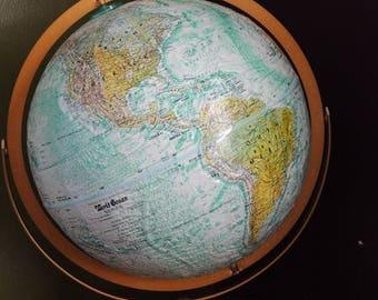 Vintage atlas maps etsy on sale vintage world atlas map globe replogle 12 diameter world ocean series gold metal gumiabroncs Images