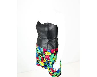 Fitted Bustier made of artificial leather