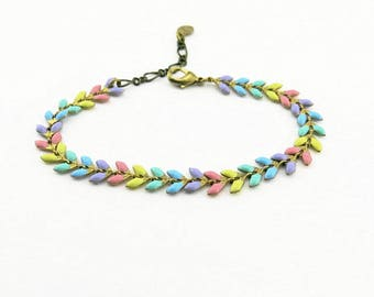 Fancy (multicolored pink) BCFA10001 bracelet