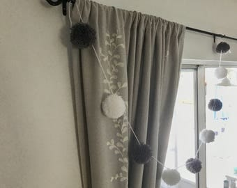 Pom pom garland - wedding decor - pompom - party decor - pom pom decor - nursery decor - wedding decor - baby shower gift - tree garland