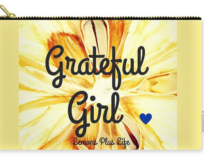 Carry-all Pouch Grateful Girl Sunflower