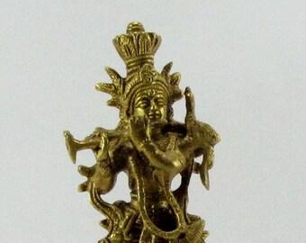 Krishna Brass statue,Krsna statue,Hindu deity,idol,Hinduism,Hindu God statue,Krishna Playing Flute,Brass sculpture.Krishna figurine,