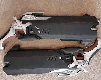 Overwatch Reaper Cosplay Double Guns Custom Props OW Weapon Gun Weapons