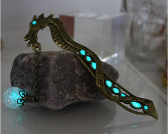 Glowing Dragon bookmarks Luminous beads Glow in the Dark For Book
