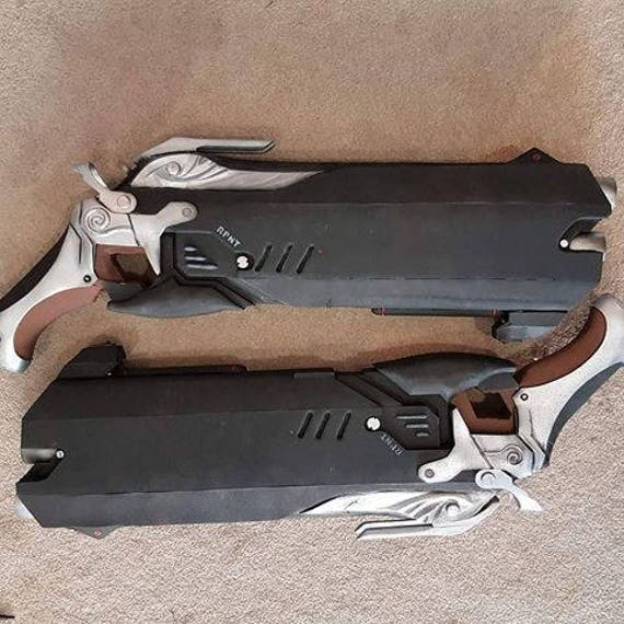Overwatch Reaper Cosplay Double Guns Custom Props OW Weapon