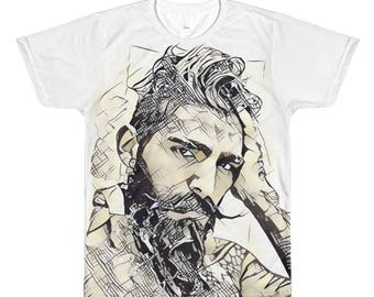 MusStacheMan All-Over Printed T-Shirt