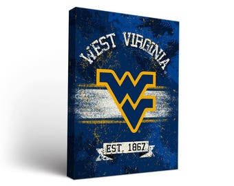 West Virginia WVU Mountaineers Canvas Wall Art Designs