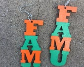 FAMU Wooden Earrings