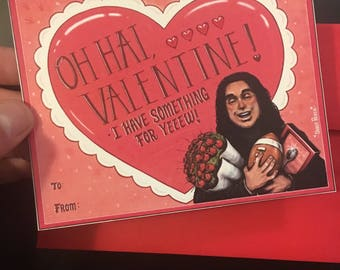 Tommy Wiseau/The Room themed Valentines Day card.