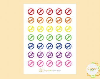 No Smoking Stickers, Quit Smoking Reminder Stickers, Planner Stickers, Erin Condren Life Planner