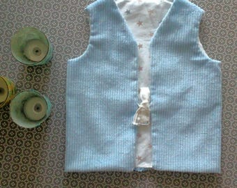 Reversible vest for baby boy!