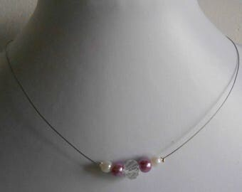 Bridal rhinestone and pearl beads, purple and white