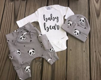 New To The Crew Newborn Girl/boy going home outfit. Mint/animal print/ stripes bkack and white/ 3pces/photo prop/Personalize it!!!