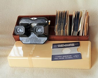 VINTAGE VIEW-MASTER - by Sawyers from the 1950s with 37 Reels, box and filing cards