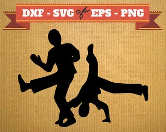 Svg Hip Hop vector files for cricut, dance cutting files, Break Dance, DXF files Hiphop breakdance